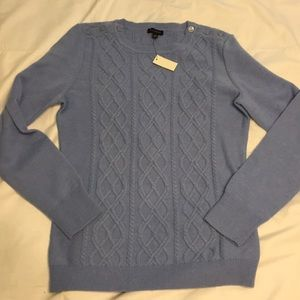 🆕 Talbots Small Blue Button Accent Sweater